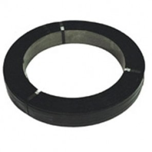 Dubose Regular Duty Strapping -  5/8 in x  .023 in, Rd & Blk  P&W Osc. Wound Painted & Waxed, Coil - 100 lb Approx (Weight varies)