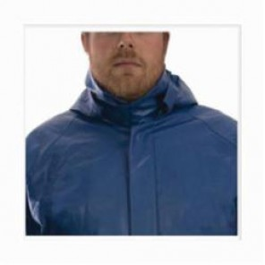 Tingley Eclipse™ H44101-LG H44101 Tri-Hazard® Detachable Hood, L, Blue, FR PVC on Non-Woven Nomex®, 14 cal/sq-cm
