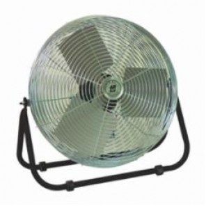 TPI F12TE Workstation Floor Fan, 12 in Blade, 1120/1420/1650 cfm, 120 VAC, 1.1 A