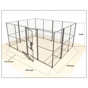 "WIRE PARTITIONING SYSTEMS, Component: Slide Door, Size W x H: 6'2"" x 7'3"""