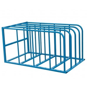 "STANDARD SHEET RACK, Cap. (lbs.)/Bay: 1500, No. of Bays: 4, Distance Between Bays: 10"", Size W x L x H: 50 x 84 x 44"""