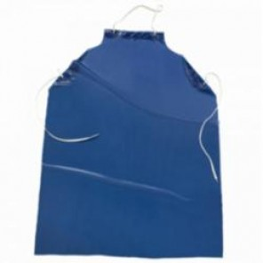 West Chester UUB-45 Apron Blue Vinyl 6 Mil with Raw Edge 35 inch x 45 inch, L
