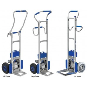 "POWER LIFTKAR SAL STAIRCLIMBING TRUCKS, Frame: Ergo 240, Toe Plate: G Grooved 16.5""W x 13.4""D, Cap. (lbs.): 240, Wheel Type: Pneumatic, Steps Per Minute: 48"