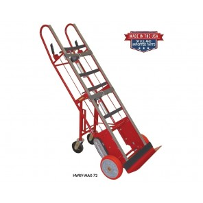 HEAVY DUTY AUTO REWIND RATCHET APPLIANCE TRUCK w/SWIVEL CASTERS, Cap. (lbs.): 1800, Tightening Belt: 2 pc. w/clasp, Height: 72""
