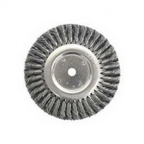 Dualife™ 08178 Wire Wheel Brush, 10 in Dia x 3/4 in W, 3/4 in, 0.014 in Knotted Standard Twist Wire