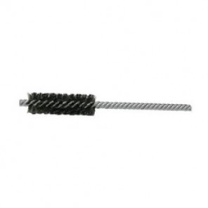 Weiler® 21118 Double Stem Double Spiral Power Tube Brush, 5/8 in Dia x 2 in L, 5 in OAL, 0.005 in Stainless Steel Wire