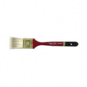 Weiler® 40017 Sash Brush, 1-1/2 in Poly/Nylon Brush, Wood Handle, All Paints