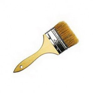Weiler® 40070 Multi-Purpose Chip and Oil Brush, 3 in China Bristle Brush, Sanded Hardwood Handle