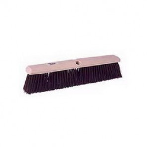 Perma-Sweep™ 42168 Push Broom, 24 in OAL, 3 in Trim, Coarse, Maroon Polypropylene Bristle