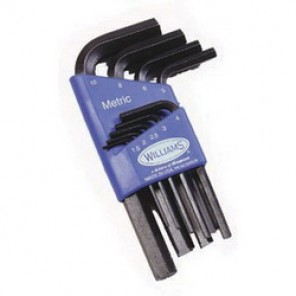 Williams® 10507 Standard Short Key Set, Metric, 7 Pieces, 1.5 mm Hex, L-Handle, Steel, Black Oxide