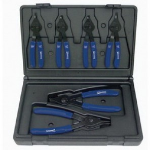 Williams® PL-1606 Internal/External Combination Plier Set, Snap Ring, 6 Pieces