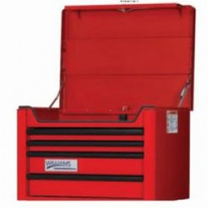 Williams® W26TC4 Professional Top Chest, 19-13/32 in H x 26-23/32 in W x 19-13/16 in D, Aluminum Handle/Steel Drawer
