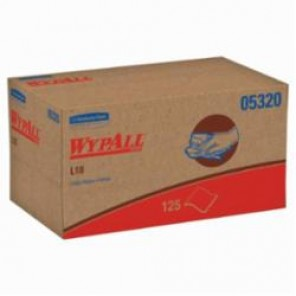 WypAll; 05320 Utility Wipes, 9 in W, 125 Units, Paper, White