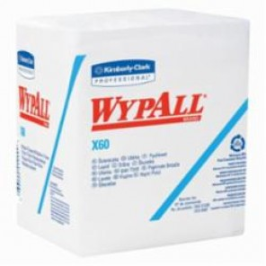 WypAll; 34865 Hygienic Washcloth, 12 in W, 76 Sheets, Hydroknit®, White