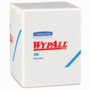 WypAll; 41083 Hygienic Washcloth, 20 in W, 70 Sheets, Hydroknit®, White