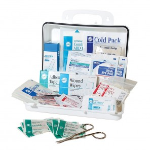 Hart 0730 Bulk First Aid Kit, OSHA Standards, Polypropylene Box, For Up To 25 People